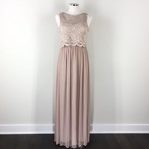 Nightway S 4 Champagne Gold Lace Formal Dress